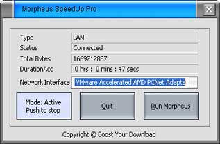 Morpheus SpeedUp Pro Screen shot
